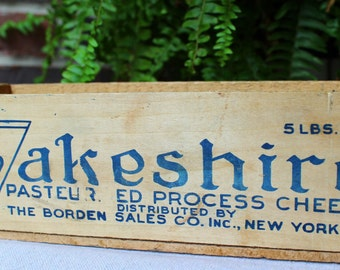 Vintage Wooden Crate - Lakeshire Cheese Box
