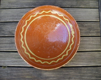 French antique Pottery from PROVENCE, antique bowl, with barolet decor no confit pot cruche 1900