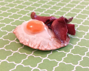 Over Easy Fried Egg and Bacon Magnet
