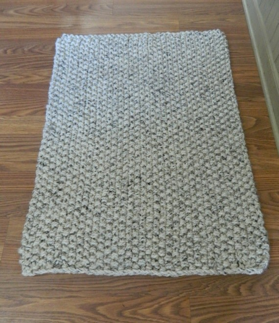 Wildlife Bathroom Rugs: Hand Knit Rustic Bath/Kitchen Rug By HisGraceAndDesign On Etsy