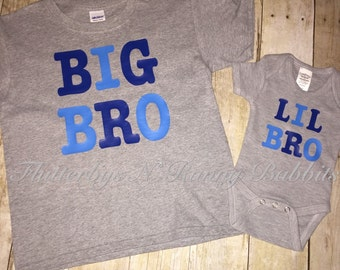 Big Bro or Lil Bro shirt brother shirt sibling shirts