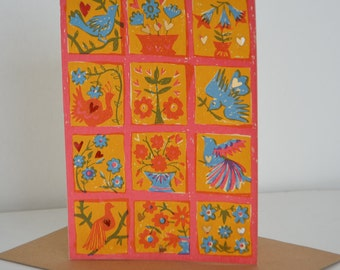 Colourful Birds Card