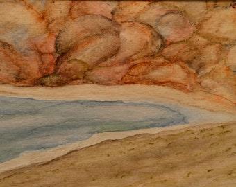 Red Rocks - Original Watercolor