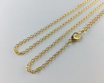 """gold chain necklace 2.5mm x 2mm oval links chain whole sale brass chain gold plated chain cable chain 18"""" 20"""" 22"""" 24"""""""