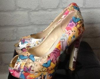Alice In Wonderland customised shoes
