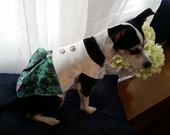 satin pooch party dress for small dog