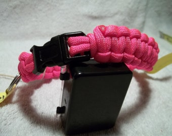P and A paracord dog collars 12""