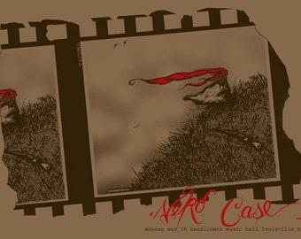 Neko Case Gig Poster, Silk Screen, Folk, Americana, Louisville