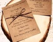 Country Wedding Invitation - Rustic Wedding Invitations