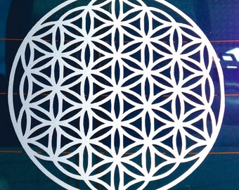 Flower of life sacred geometry vinyl decal