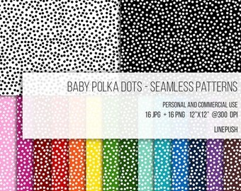 SALE! Timeless Baby Polka Dot Pattern. Digital Paper, Seamless Patterns, Wallpaper, Background, Abstract, Scrapbooking paper, seamless.