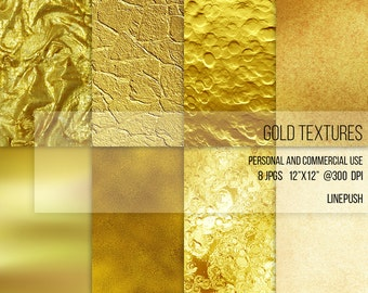 SALE! Gold Papers and textures. Gold wallpapers, backgrounds, 24k 18k 14k gold, aged gold, gold foil, realistic, yellow gold, vintage gold