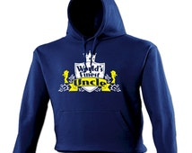 World's FinestUncle Hoodie - Funny Slogan Joke hoody hooded gift fine family blood related niece nephew mum sister dad brother 123t