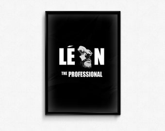 Leon - Custom Minimal Modern Art Movie Poster Print Abstract