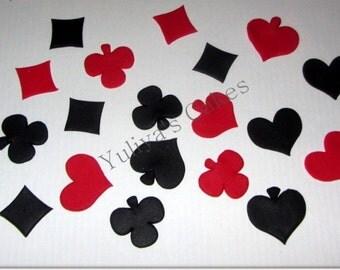 25 Edible playing cards/casino suits cake/cupcakes topper,casino,vegas,sugarpaste,birthday,Las vegas