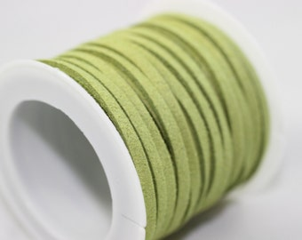 Light Green Faux Suede Cord, 5mt/ 10mt/ 20mt/ 50m Faux Suede Cord, Jewelry Cord for Jewelry Accessories