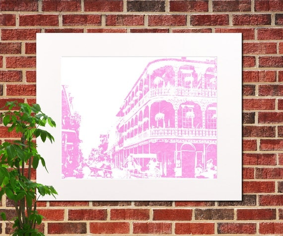 New Orleans Print Abstract City Art New Orleans Home Decor