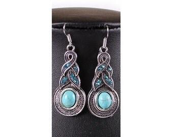 turquoise, gorgeous dangle  earrings
