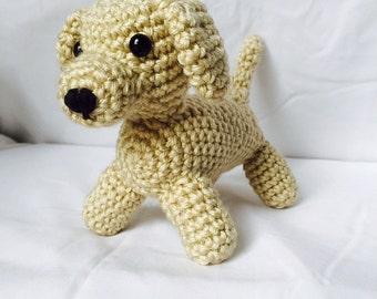Yellow Lab Dog Stuffed Animal Crochet