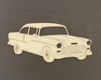 1955 CHEVY Car Wall Art(Birch Wood)