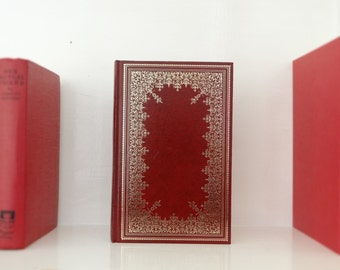 Vintage book - A Portrait of the Artist as a Young Man by James Joyce - red and gold gilt faux leather cover