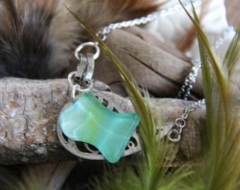 Glass aqua necklace