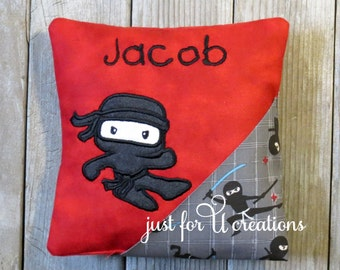 Tooth Fairy Pillow Ninja Personalize Embroidered Boy