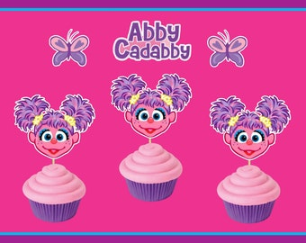 12 Abby Cadabby Cupcake Toppers,Sesame Street,Abby Cadabby Birthday