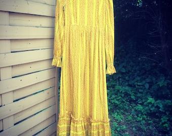 Bohemian floral hippie festival dress