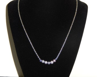 Simple Freshwater Pearl Necklace, Simple Small Freshwater Pearl Necklace