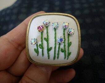 Sparkling, Crystal brooch