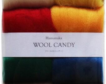 Pack de 8 colores de lana para Fieltro-Set of 8 colours felted wool