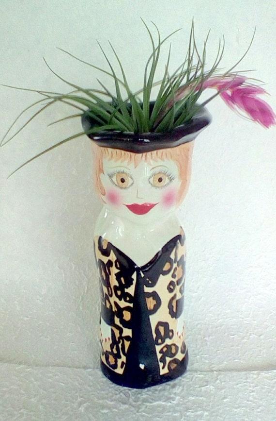 vintage ceramic lady vase bella casa ganz artist susan paley. Black Bedroom Furniture Sets. Home Design Ideas