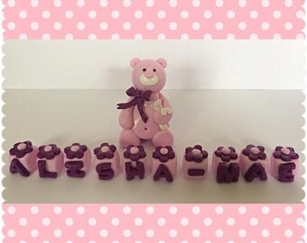 Personalised First Birthday Bear