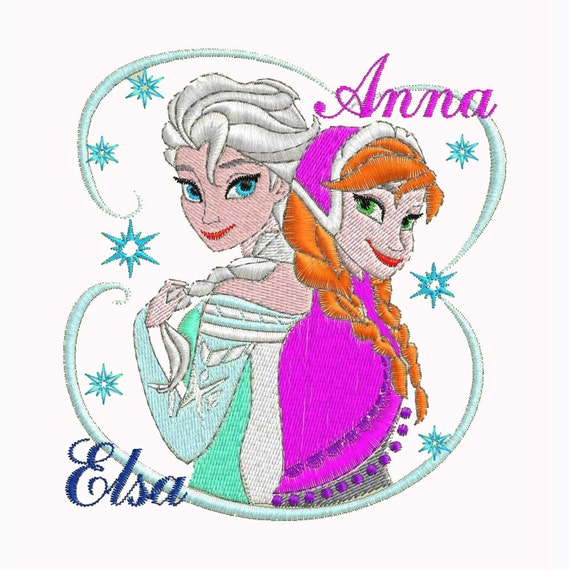 FROZEN ANNA ELSA Embroidery Design Download By TheEmbroideryClub