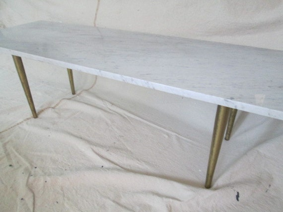 Reserved For Emily Italian Marble Slab Coffee Table Bench Mid