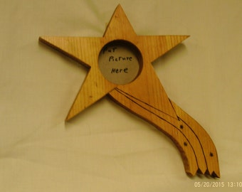 Handmade wooden shooting star picture frame