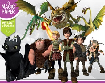 How To Train Your Dragon Clipart - Disney Digital 300 DPI PNG Images, Photos, Scrapbook, Digital, Cliparts - Instant Download
