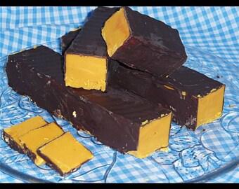 Chocolate Coated Marzipan Fudge - Delicious Handmade Fudge