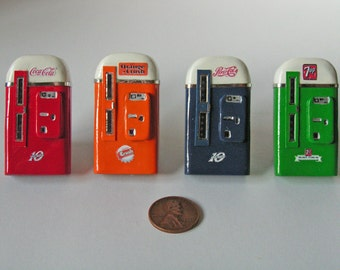 Vintage Soda Vending Machine Magnet Set