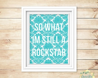 A4 Digital Download So What P!nk Song Lyrics Poster