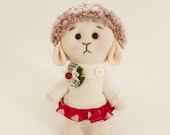 Rag dolls handmade Cloth toy sheep figurine Sheep Soft Toy Toy Toy handmade cute sheep lamb dressed girl Toys Toys and games lamb birthday