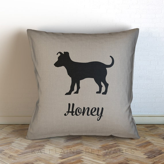 Personalized Dog Throw Pillows : Personalized Dog Name Decorative Throw Pillow/ jack russell