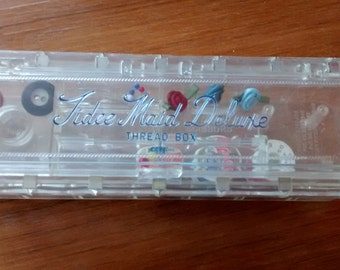Vintage Tidee Maid Deluxe Thread Box