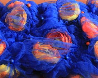 Muff/ Haute couture/ accessory flowers