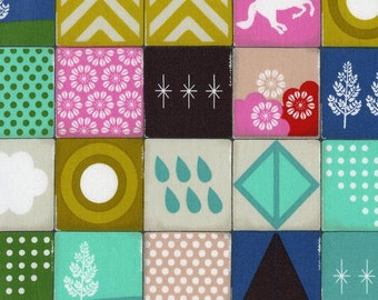 Playful - Memroy Aqua - Melody Miller - Cotton+Steel quilting cotton fabric
