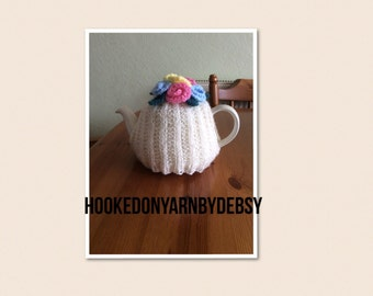 tea cosy, Knitted tea cosy cream tea cosy, kitchen accessories tea pot warmer, Mother's Day gift, ready to ship