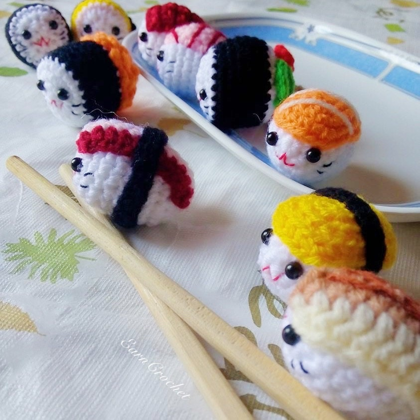 Amigurumi Sushi Free Pattern : Amigurumi Sushi Set 2In1mini crochet dollkawaii crochet