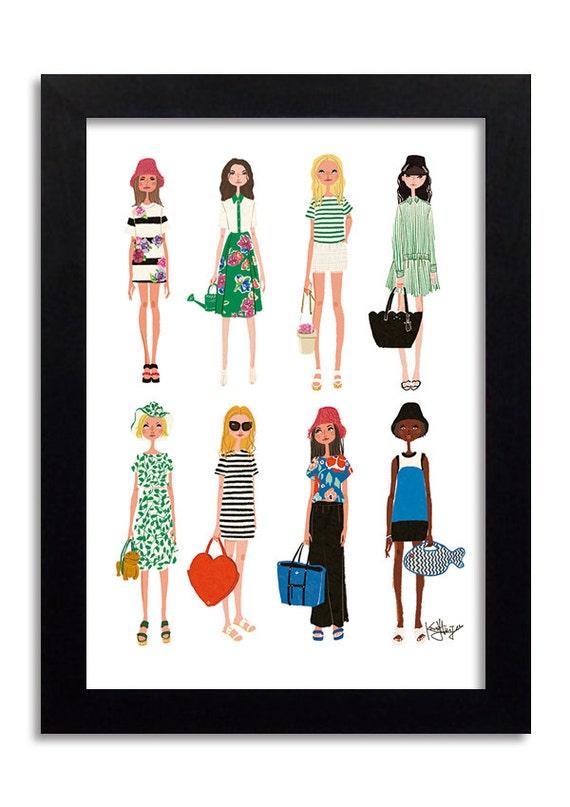 Kate Spade New York Fashion Illustration Print Fashion Print
