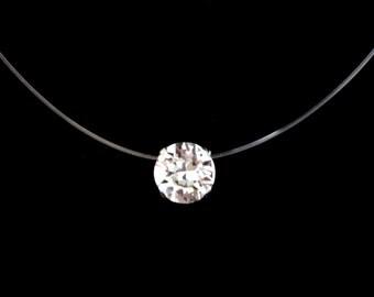 RAS neck Swarovski Crystal 8mm 925 Silver and Nylon thread